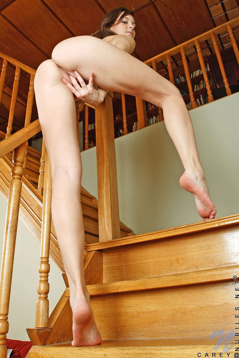 Carey on the stairs Carey skinny small tits stairs young Young girls