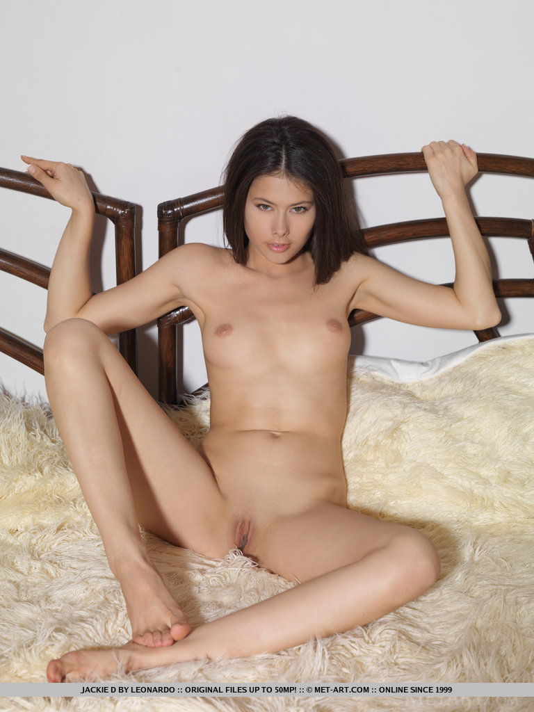 Jackie naked on bed