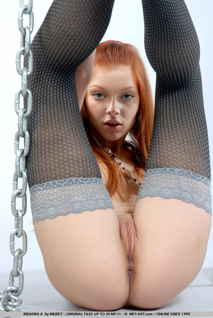 Indiana – Chains & stockings fetish indiana redhead stockings