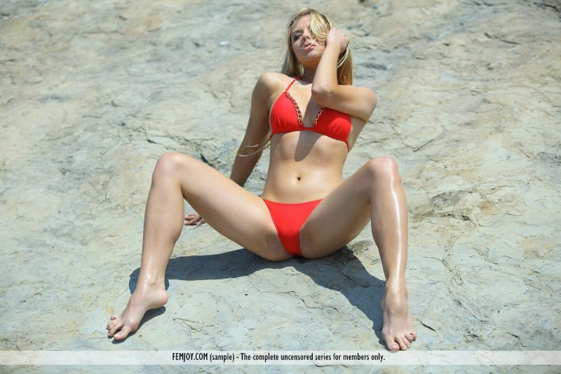 Madina in red bikini bally d bikini blonde madina a Pretty Ladies