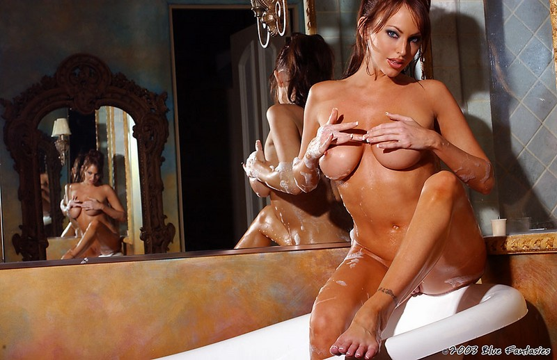 Rachel Elizabeth in bath bath bathroom big tits brunette Rachel Elizabeth