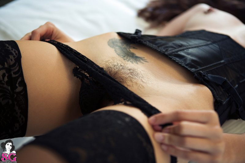 Dimples – Corset & stockings corset dimples fetish stockings suicide girls tattoo