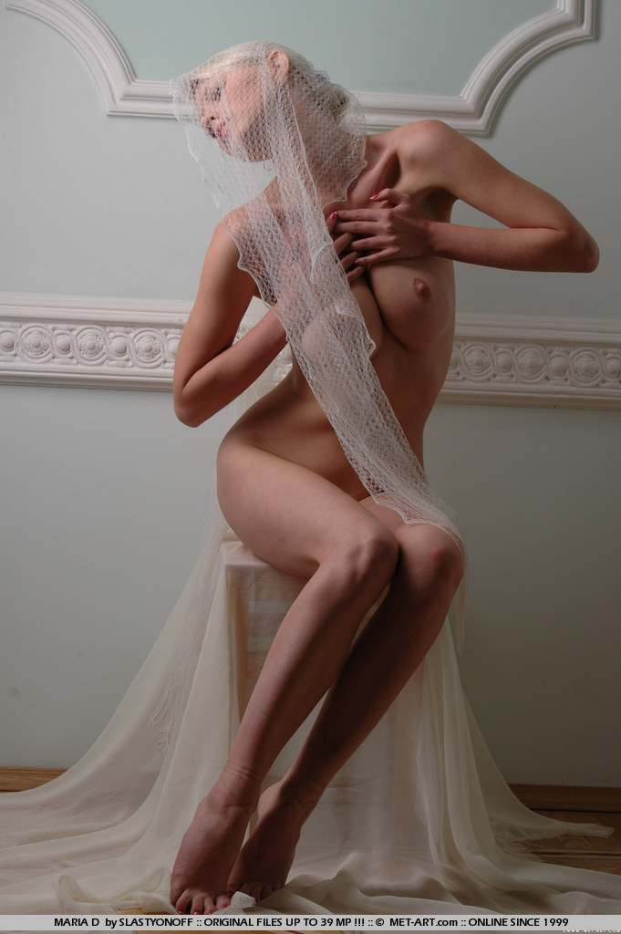 Maria in white veil big boobs blonde boobs maria d