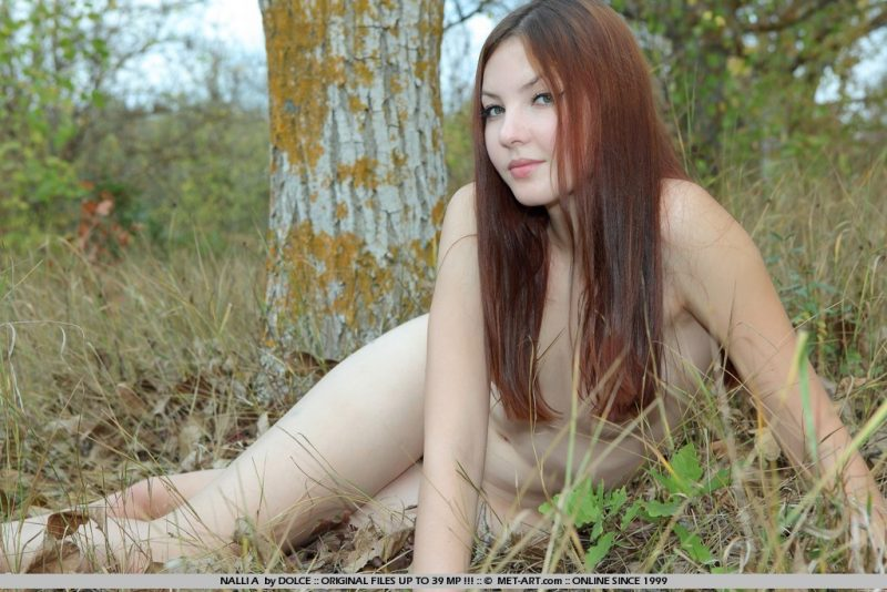Nalli in the woods hairy pussy nalli a redhead woods Young girls