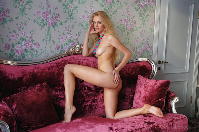 Jennifer Mackay on the couch blonde couch Jennifer Mackay Pretty Ladies