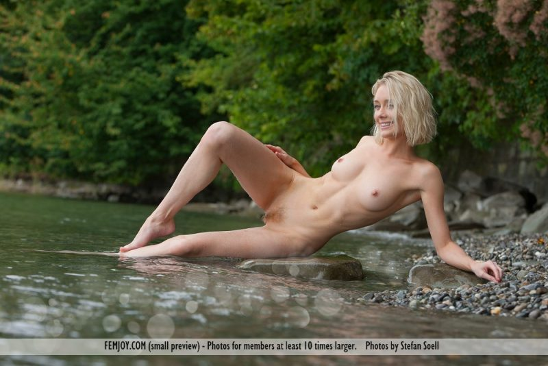 Katy Cee by the river blonde cate sharpe katy cee Pretty Ladies river