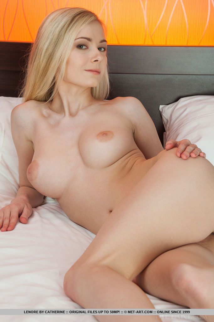 Lenore in bedroom bedroom blonde lenore Pretty Ladies skinny