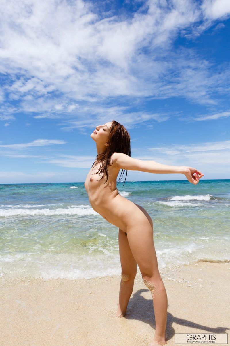 Marie Shiraishi on the beach asian asians beach bikini marie shiraishi seaside