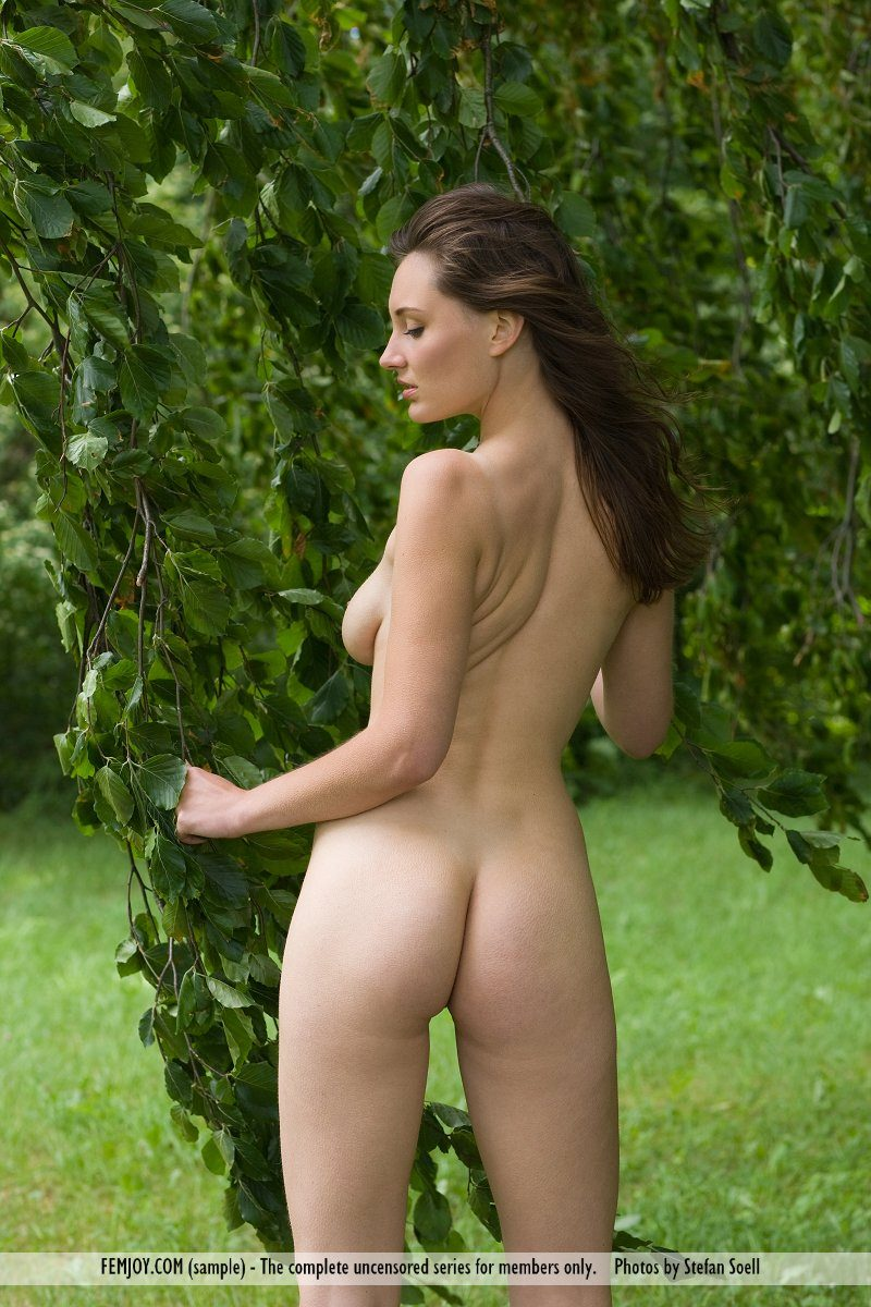 Ashley Spring nude under the tree
