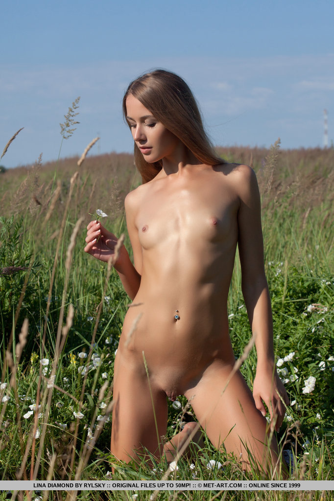 Lina Diamond on meadow lina diamond long hair meadow small tits Young girls