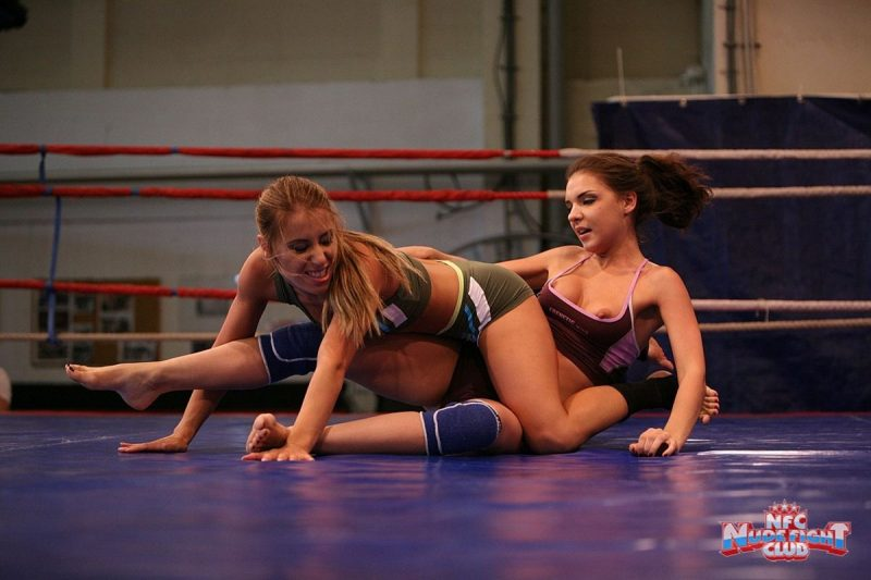 Alina Henessy & Nikky Thorne – Nude Fight Club alina henessy Lesbian nikky thorne nude fight club sport wrestling