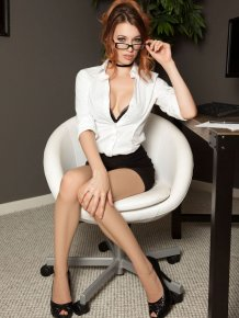 Caitlin McSwain at the office