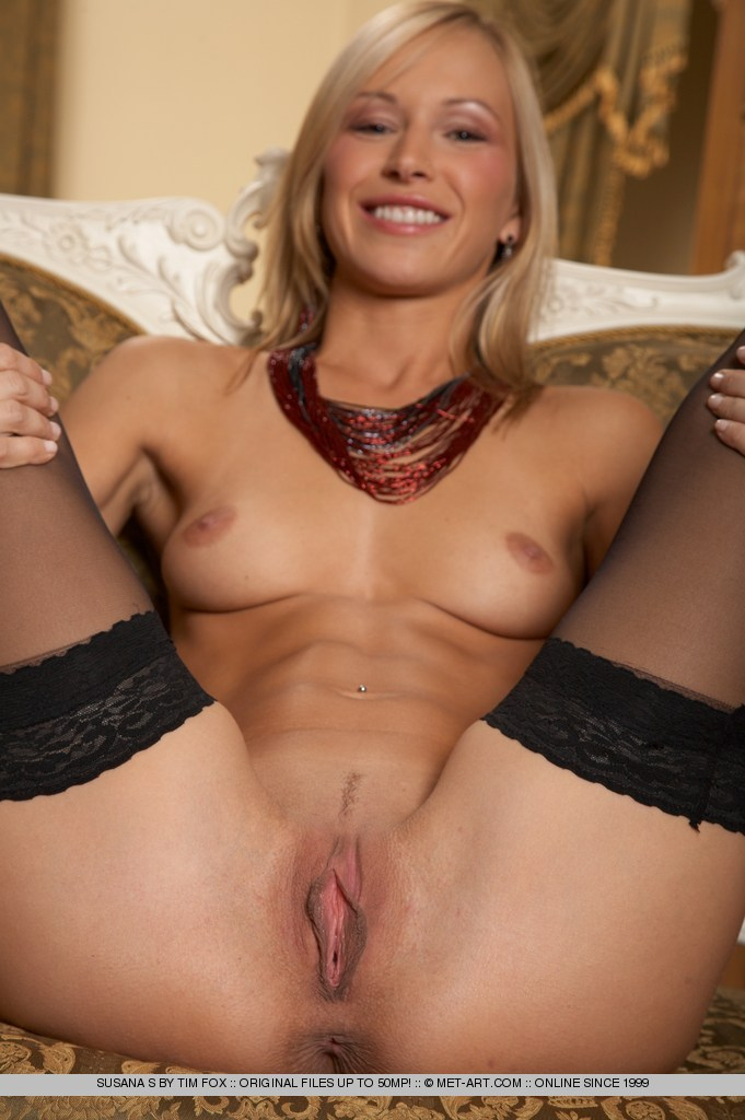 Susana Spears in black stockings fetish stockings Susana Spears