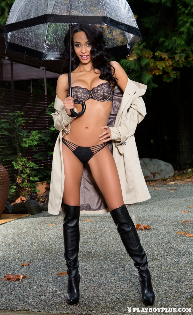 Brandi Alexander – Rainy weather brandi alexander brunette playboy rain Super Chicks umbrella