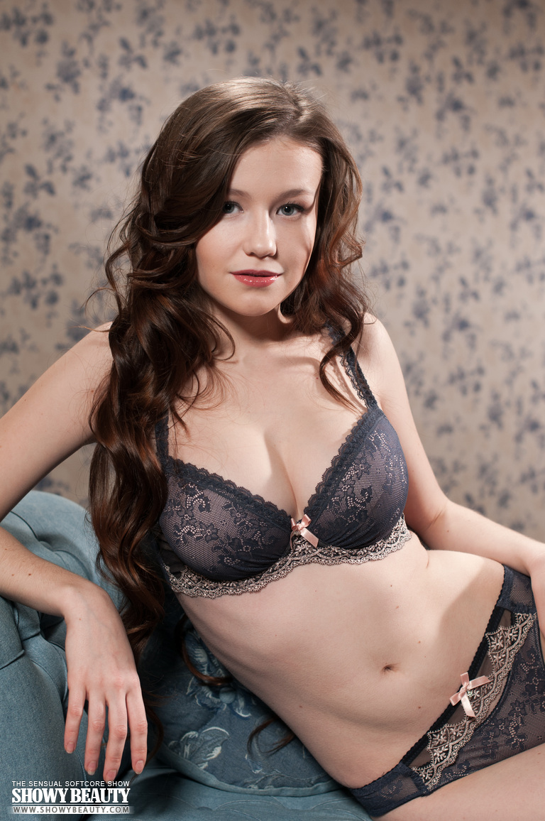 Emily Bloom in lingerie