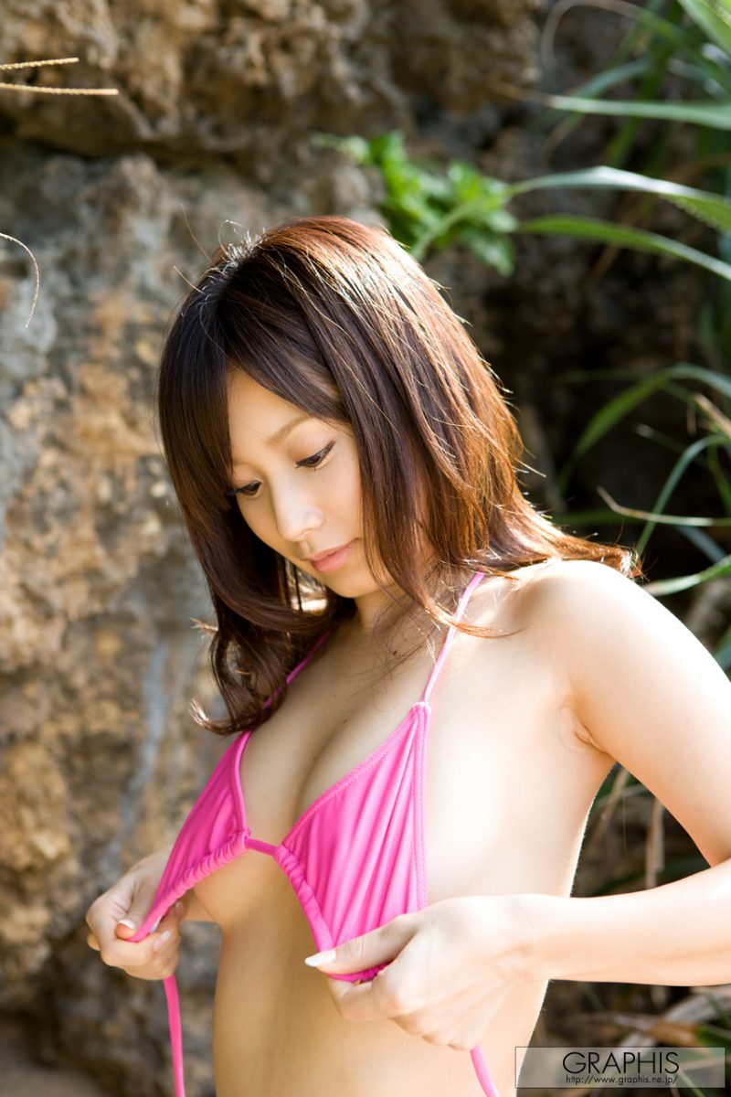 Minami Kojima on the beach asian asians beach Beach & Bikini bikini minami kojima seaside