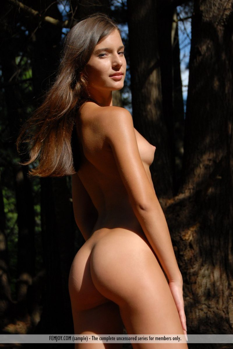 Izabelle in the woods