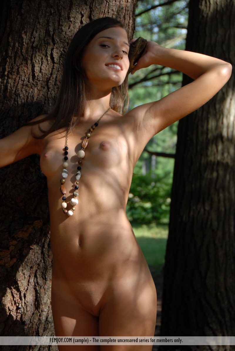 Izabelle in the woods Izabelle Pretty Ladies skinny small tits woods