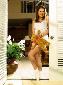 Erica Campbell & her teddy bear