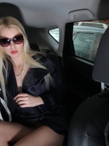 Lynna Nilsson on the back seat