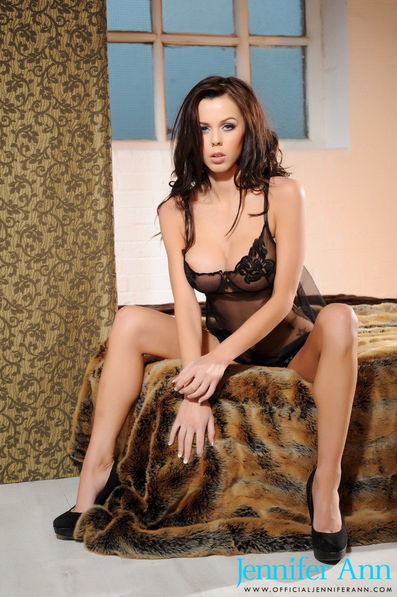 Jennifer Ann in black nighty
