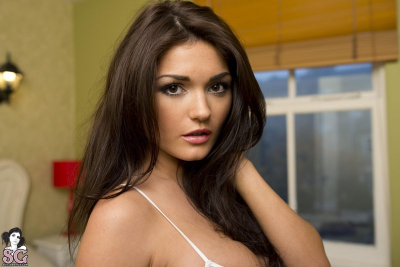 India Reynolds in bedroom