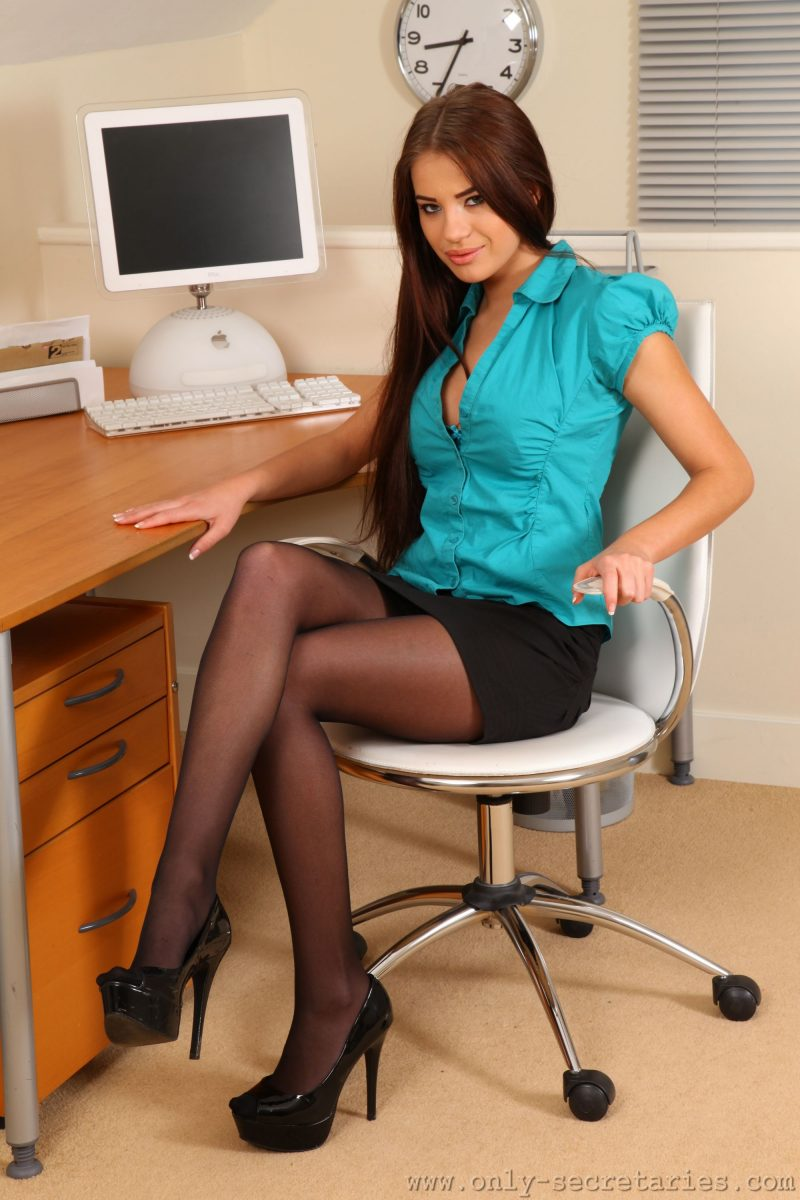 Laura in the office
