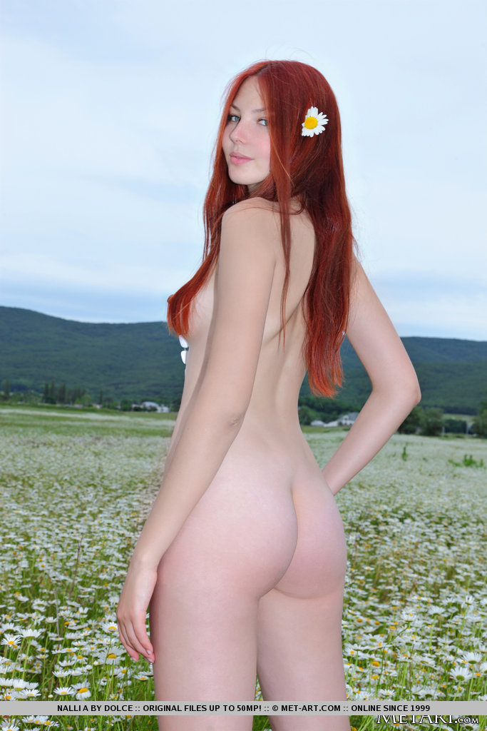 Nalli naked on the meadow hairy pussy meadow nalli a Pretty Ladies redhead