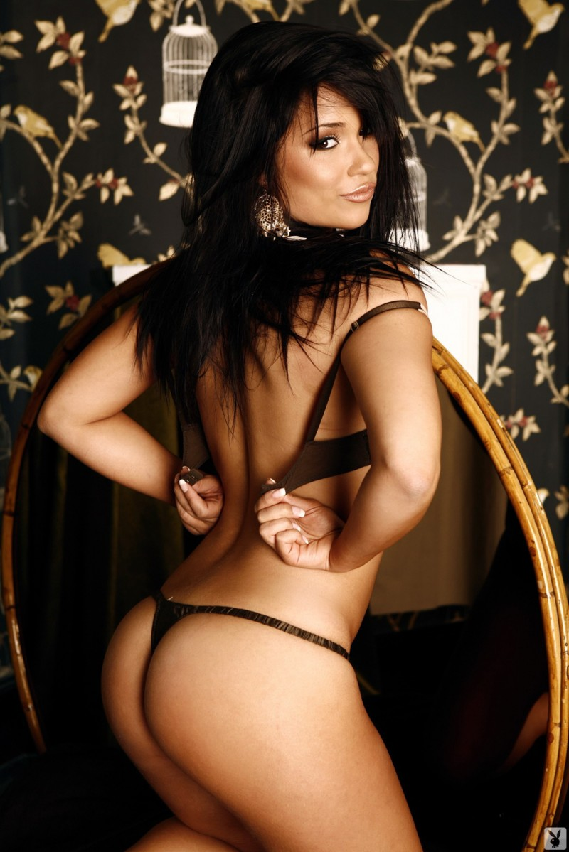 Laura Jones for Playboy brunette laura jones lingerie playboy