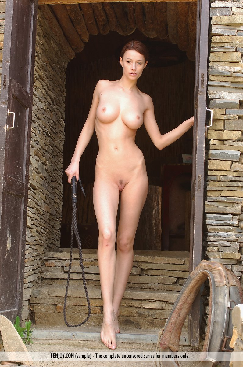 Nastiya – Nude girl with whip