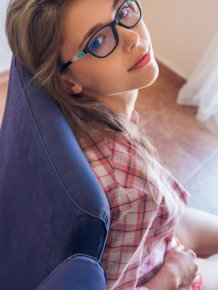 Milla in glasses
