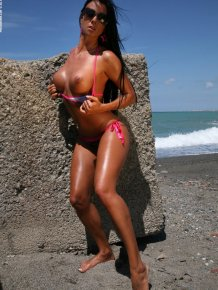 Ashley Bulgari by the seaside