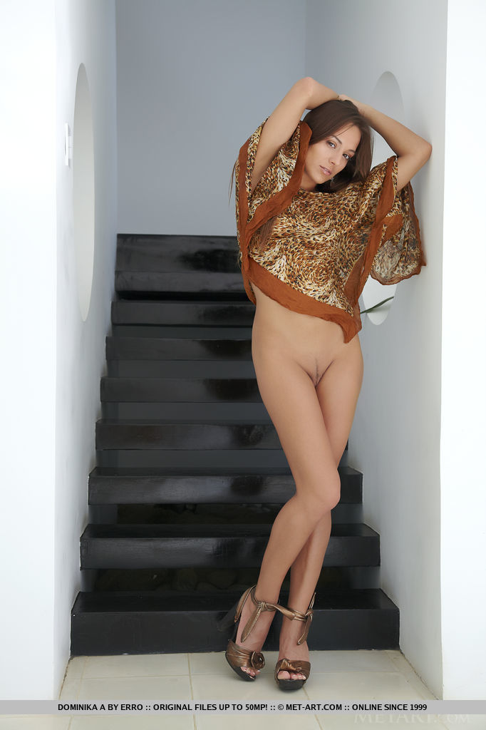 Dominika on the stairs