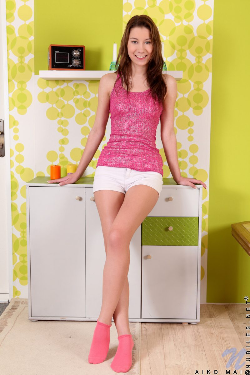 Aiko Bell in pink socks