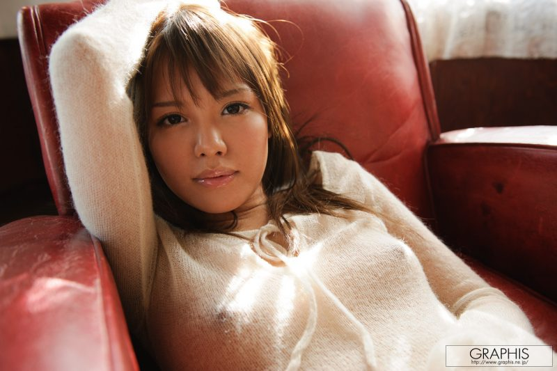 Coco Aiba in transparent sweater armchair asian asians coco aiba sweater