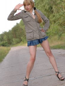 Dina – Young blonde hitchhiker