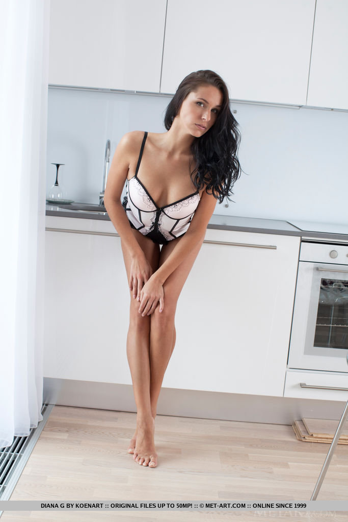 Diana in the kitchen