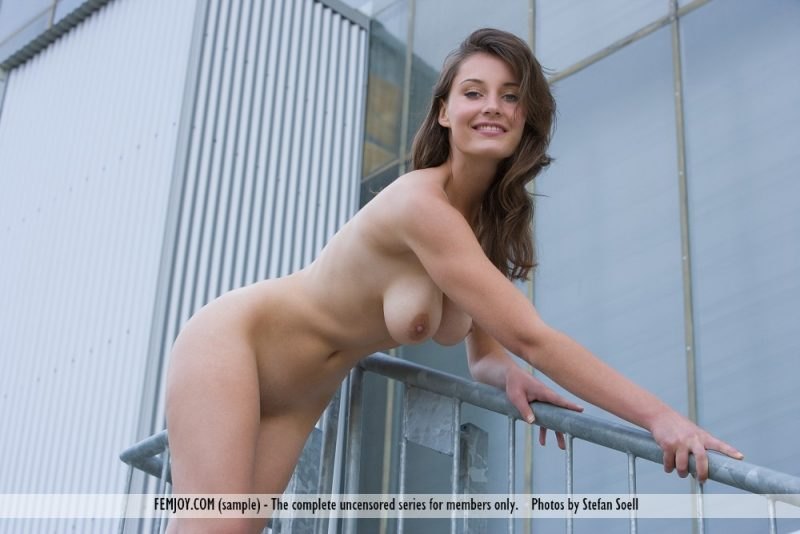 Ashley Spring – Outdoor staircase ashley spring big boobs boobs stairs tits