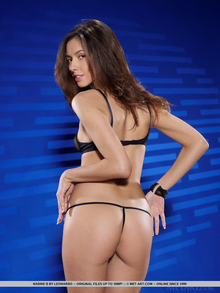 Nadine in black lingerie nadine b Pretty Ladies skinny