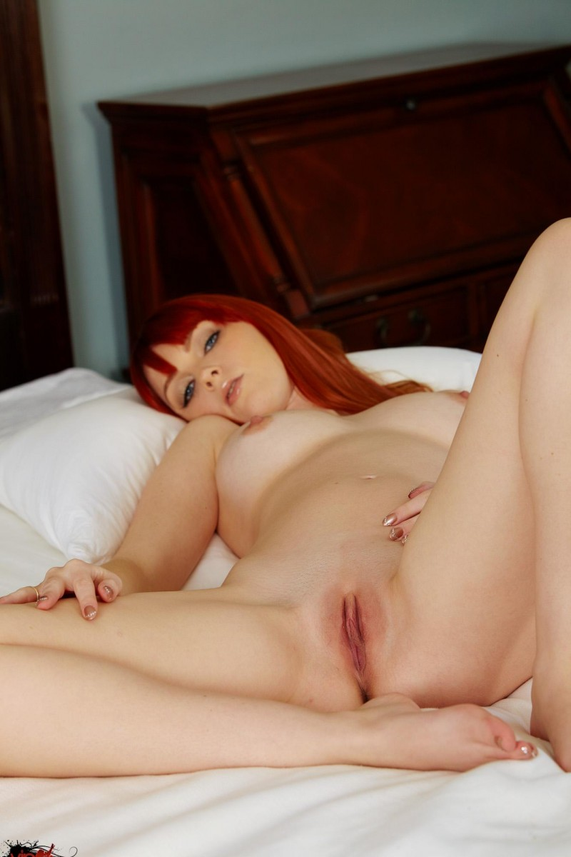Marie McCray in bedroom bedroom big tits Marie McCray redhead