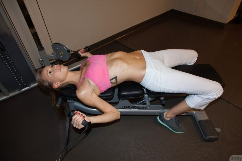 Geri Burgess – Gym workout