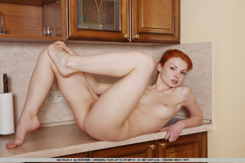 Natalia in the kitchen kitchen natalia Pretty Ladies redhead