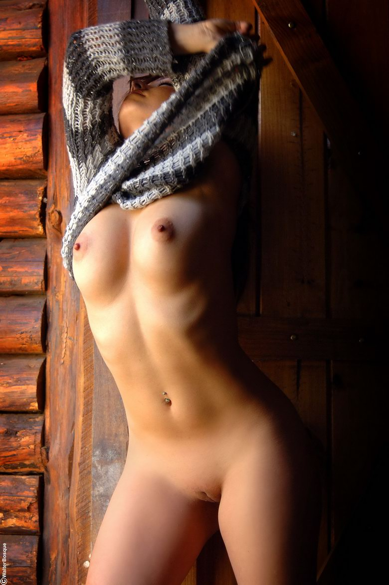 Commit error. Brunette in sweater naked happens