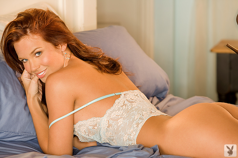 AJ Alexander in bedroom AJ Alexander bedroom big tits playboy redhead