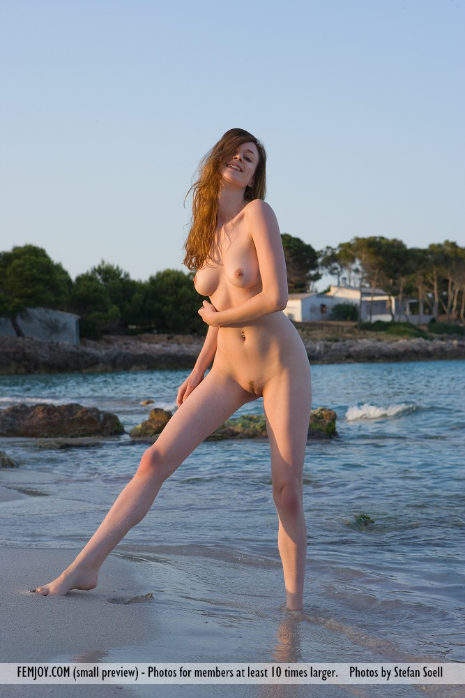 Anna Leah at the beach