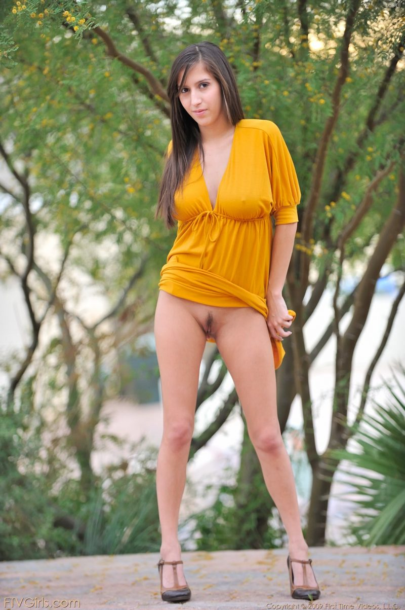 April O'Neil in yellow dress