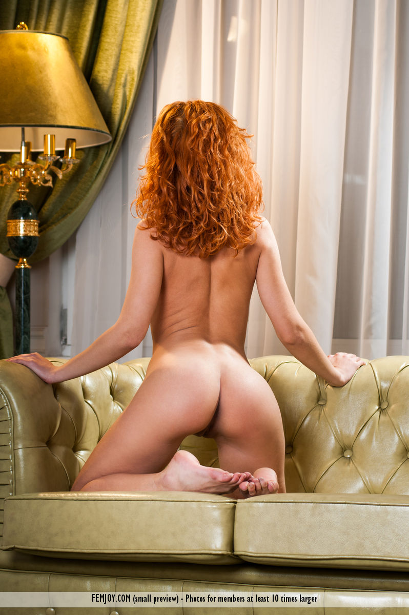 Zarina on the couch couch Pretty Ladies redhead walda zarina a