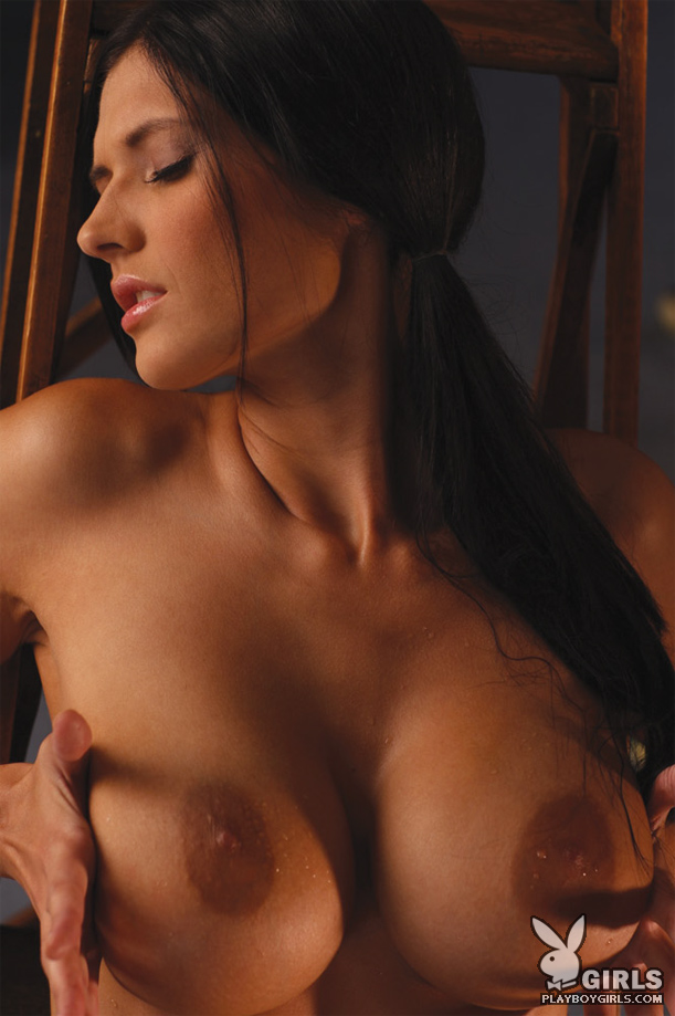 Billiard with Mandy Marie Michaels big tits brunette Mandy Marie Michaels playboy
