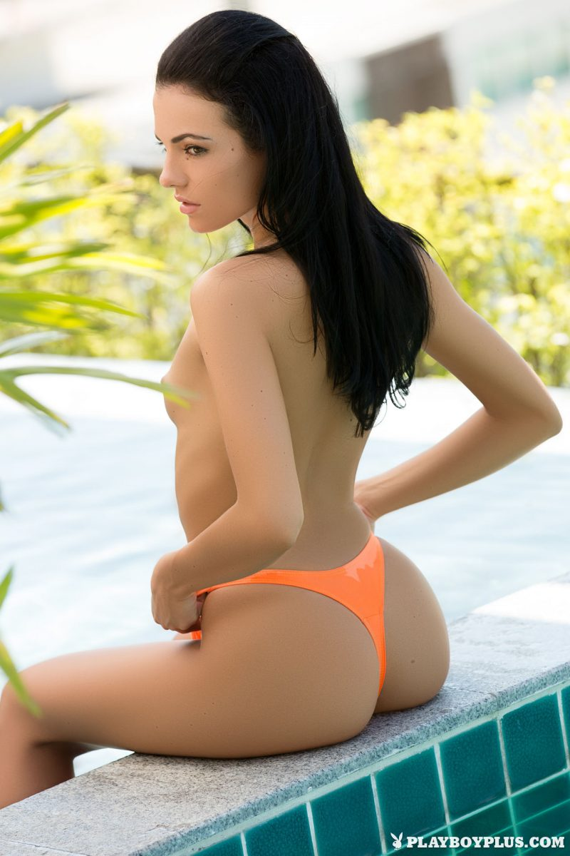 Sapphira – Pool time brunette playboy pool sapphira Super Chicks