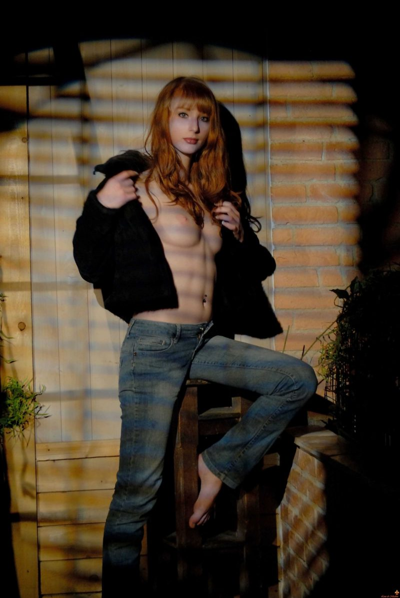 Clelia in denim jeans